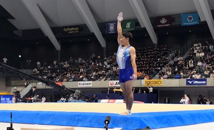 体操競技部:南、五輪も夢じゃない/床で全日本チャンピオン   仙台大学